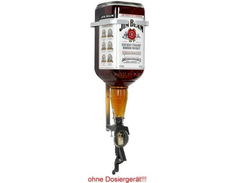 flaschenhalterung f r 4 5 liter jim beam flaschen aus alu. Black Bedroom Furniture Sets. Home Design Ideas