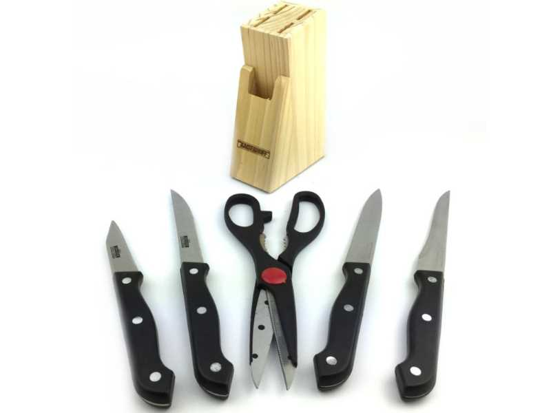 messerblock messer set aus holz 6 tlg hier bestellen. Black Bedroom Furniture Sets. Home Design Ideas